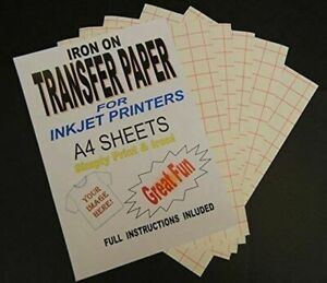 Madaboutink A4INKTTRANSL20 Printable Iron on T Shirt & Fabric Transfer Paper