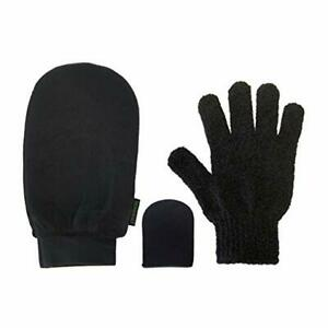 Skinerals-Padded-Microfiber-Mitt-Set-Body-amp-Face-Applicators-Exfoliating-Glove