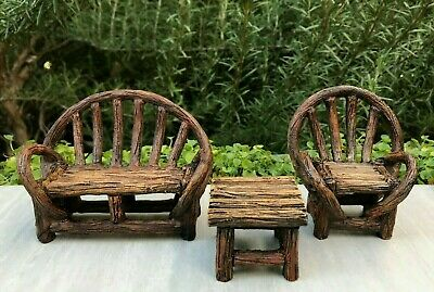 Log Table /& Bench Fairy Garden Mini