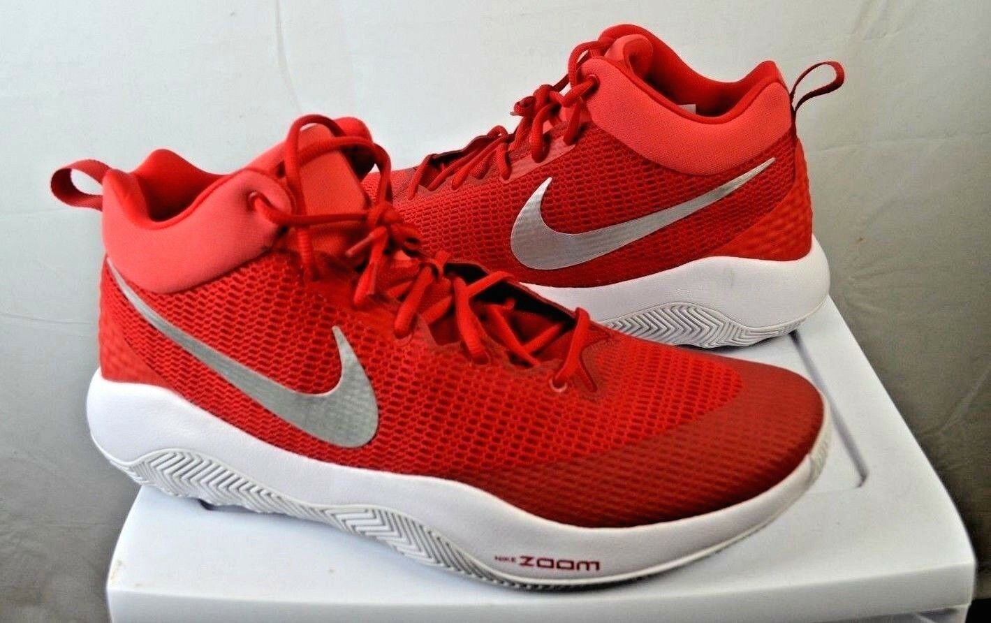 Nike Men's Men's Men's Zoom Rev TB Basketball Sneakers Size 18 University Red Silver NWOT 9bc9a2