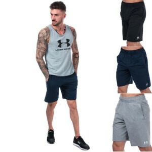 Mens-Under-Armour-Sportstyle-Cotton-Shorts-in-grey-black-navy