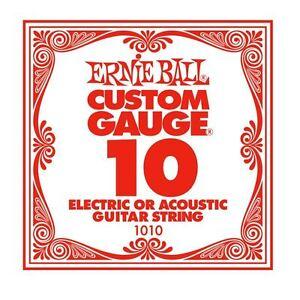 ernie ball custom gauge single guitar string for eectric acoustic 10 749699110101 ebay. Black Bedroom Furniture Sets. Home Design Ideas