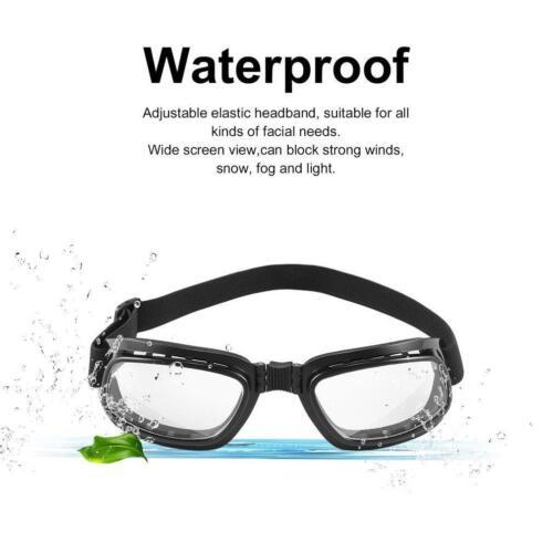 Foldable Vintage Motorcycle Glasses Windproof Eyewear Dustproof Goggles WT