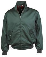 Harrington Jacket Bomber Classic Tartan Lined G9 Ska Punk Skinhead Mod Green