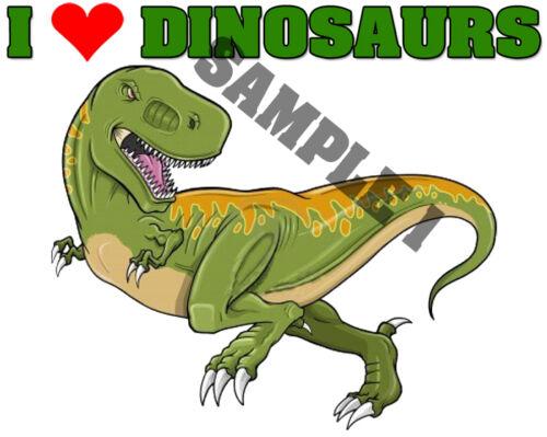 J/'adore les dinosaures iron on transfert personnalisé de libre-ref 02-10
