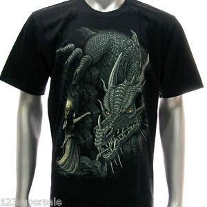 Rock Eagle T-shirt Tattoo Glow in Dark Skull Grim Reaper Everday Look Tee Men