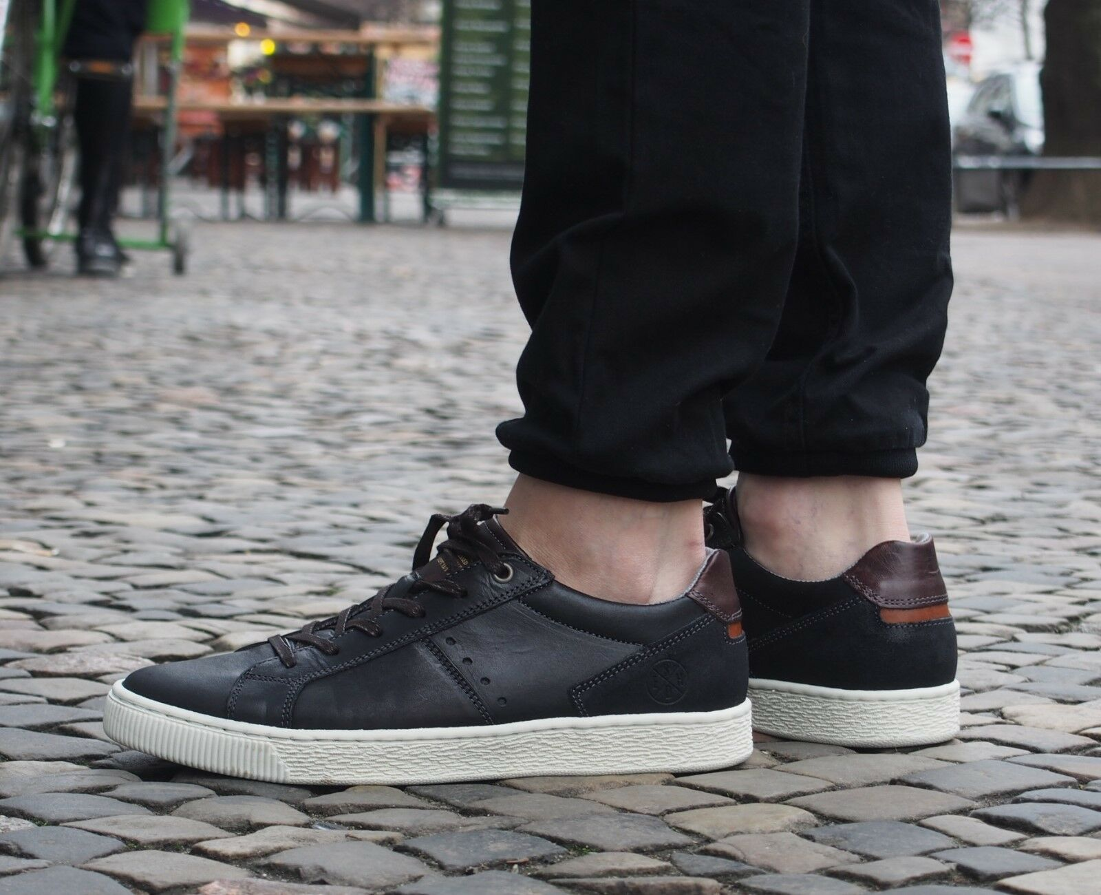 BULLBOXER Schuh Schnürschuh 33 schwarz black Echtleder Halbschuh Herrenschuh neu