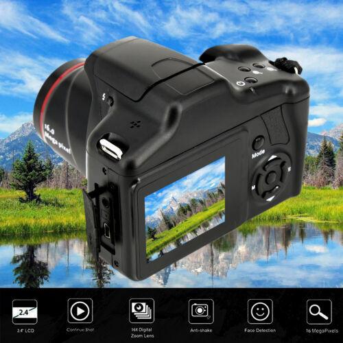 Último 16MP 1080P 16X Zoom 6.1cm TFT Pantalla Anti-movimiento Digital SLR Camara