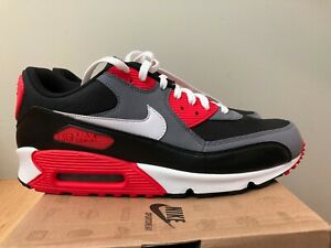 Details about 2010 Nike Air Max 90 Classic Reverse Infrared Black 3M Silver  White Grey size 13