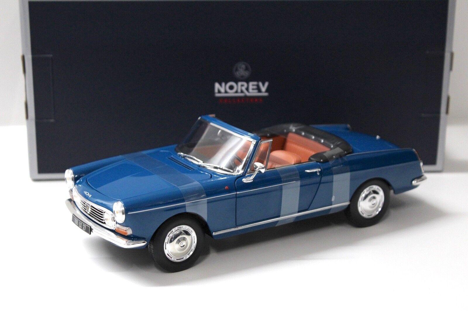 1 18 Norev Peugeot 404 Cabriolet 1967 Mendoza bleu New chez Premium-modelcars