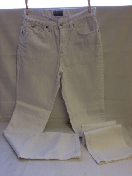** Bellissimi Jeans Bianco-una M&s Stretch Per-molto Buono-taglia 8r-fantastico!