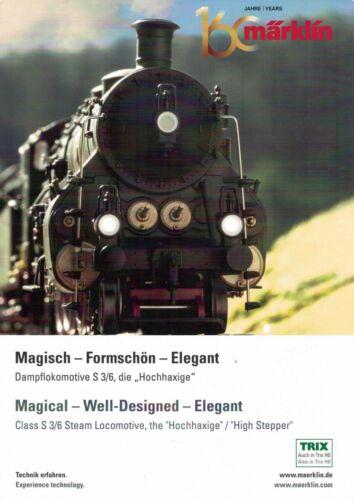 MÄRKLIN Prospekt Werbe-Poster Dampflok S 3//6 die Hochhaxige deutsch//englisch NEU