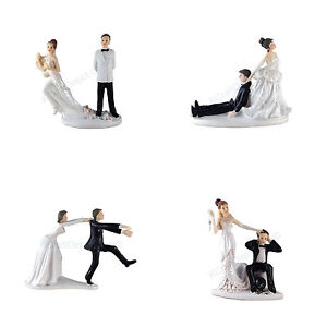 Image Is Loading Funny Polyresin Figurine Wedding Cake Toppers Bride Groom