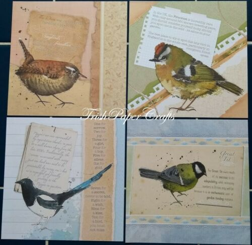 """SAMPLE SET 25 5x5/"""" Shts~ Hunkydory *NEW* SQUARE LITTLE BOOK OF WATERCOLOUR WINGS"""