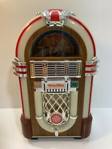 Vintage-Leadworks-Wurlitzer-Fifties-Micro-Cassette-Jukebox-With-One-1-Cassette