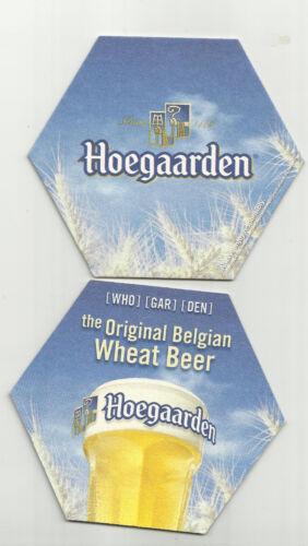 """Lot Of 5  Hoegaarden Beer coasters.-Hoegaarden of Belgium=/""""Original Wheat Beer/""""/"""""""