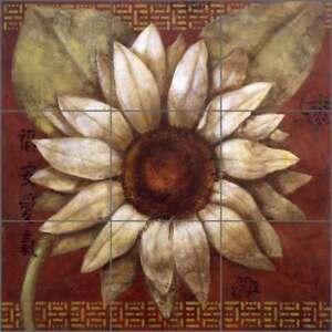 Tile-Mural-Backsplash-Ceramic-Rich-Daisy-Flower-Floral-Art-OB-WR1320