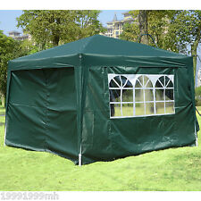 Outsunny 10'x10' Pop Up Gazebo Outdoor Tent Patio Camp Canopy Shelter Dark Green