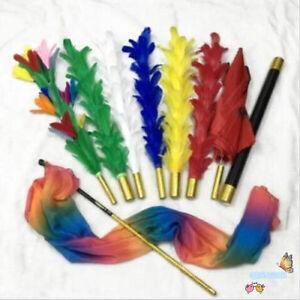Feather Sticks Variation Stage Magic Tricks,Flower to Umbrella/bouquet/Flag Fun