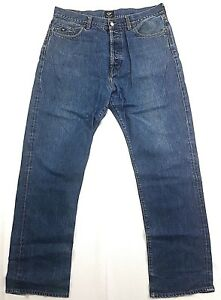 Vintage-Energie-Sixty-Italy-Denim-Blue-Jeans-Mens-Size-36-x-32-Straight-Leg