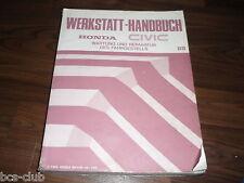 #H126 HONDA CIVIC 88 4. Generation 1987-1991 General WERKSTATT HANDBUCH