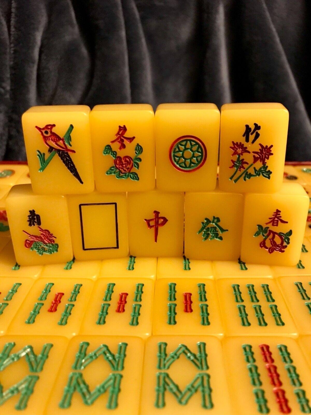 Retro Vintage Amber Apple Juice Amber Vintage Resin Mahjong Set 62de04