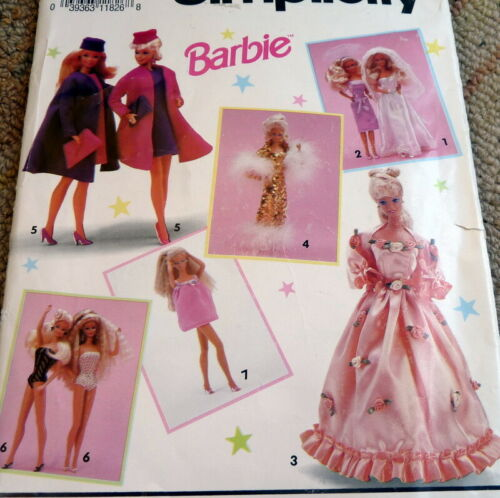 """VINTAGE 11½"""" BARBIE DOLL Clothing SEWING PATTERN Simplicity 0601"""