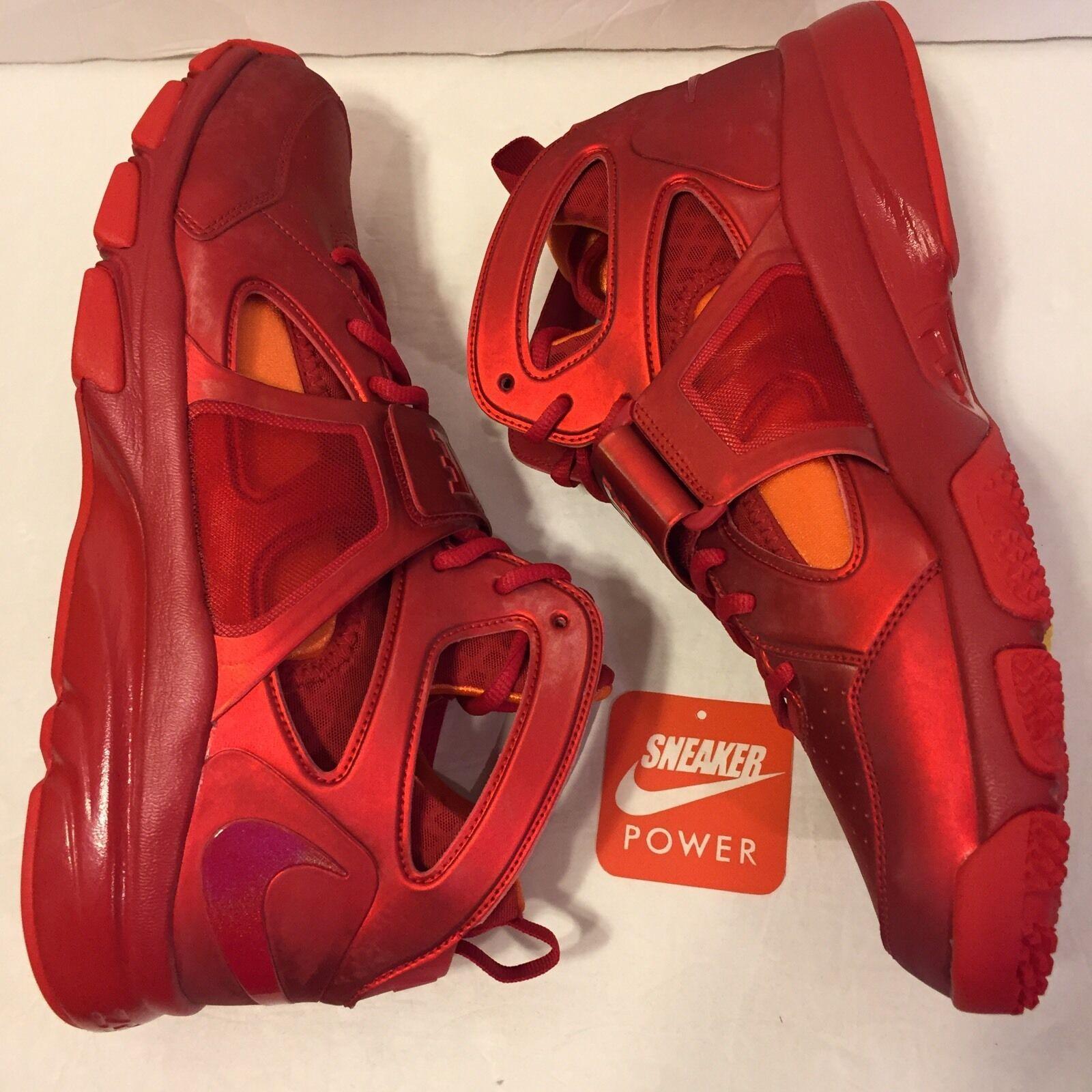 NEW DS Nike Zoom Huarache TR Mid Flash Orange sz 13 Varsity Red Orange Flash 414975 601 Hero e3e66d