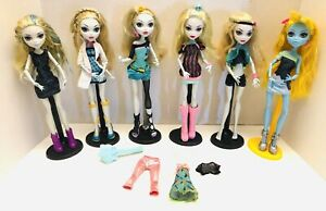 Monster-High-Huge-Lot-6-Of-Lagoona-Blue-Dolls-Shoes-Outfits-Brush