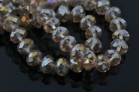 Wholesale 70Pcs 8x6mm Faceted Glass Crystal Loose Beads Spacer Rondelle Findings