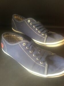 Details about Vintage Genuine FRED PERRY Blue Canvas Tennis Shoes Plimsoll Trainers UK 6 EU 39