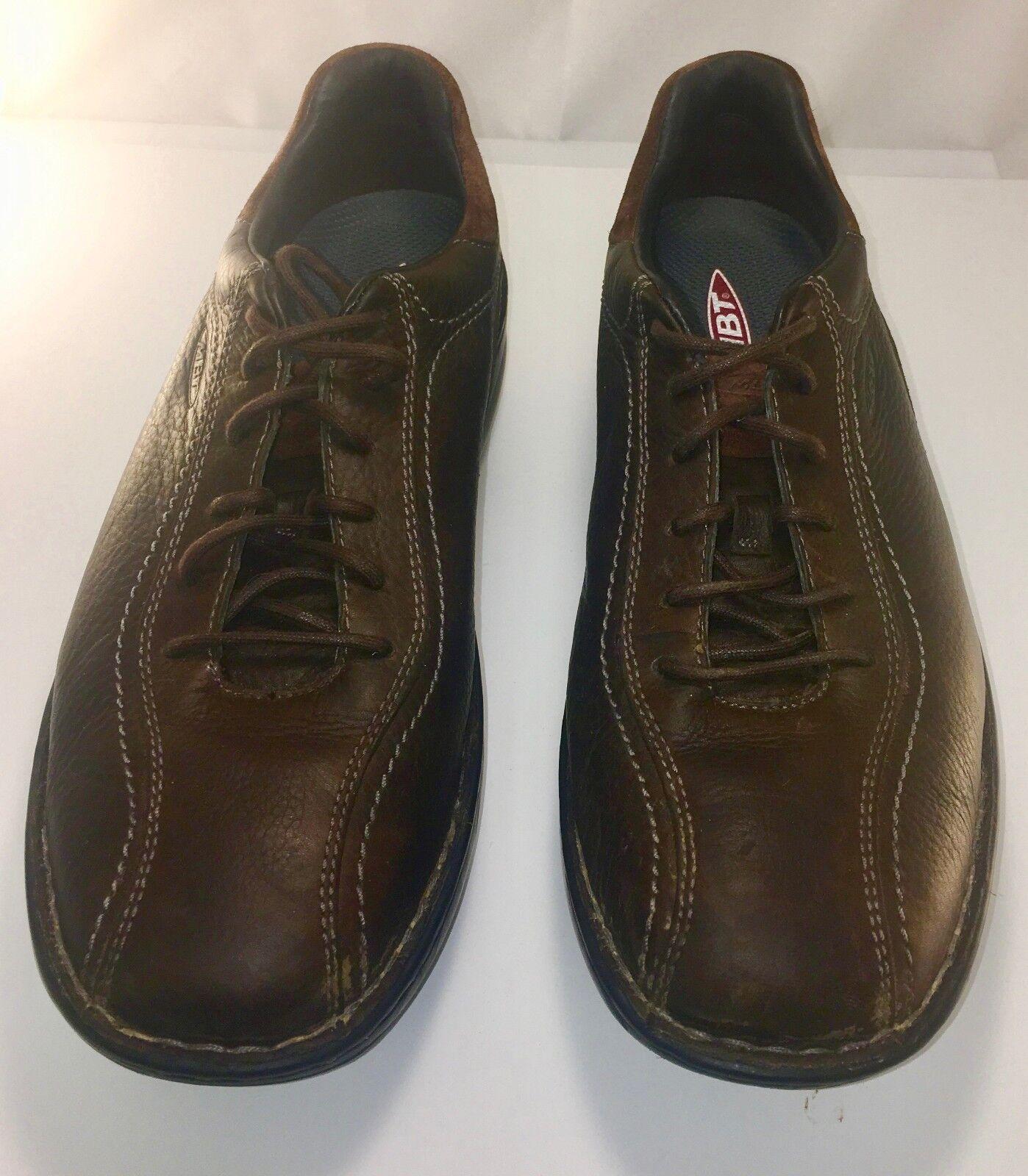 MBT Tariki walnut brown leather lace up oxford walking shoe sneaker 11.5 45 2 3
