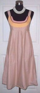 Martina-Pink-Dress-Sz-6-Brown-Orange-Coral-Cotton-Summer-Fit-amp-Flare-S