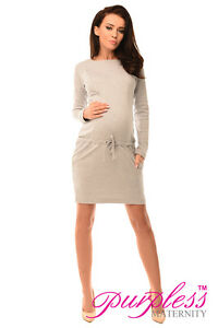 0a0e892a063 Details about Purpless Maternity Pregnancy and Nursing Front Tie Dress Top  with Pockets 6204
