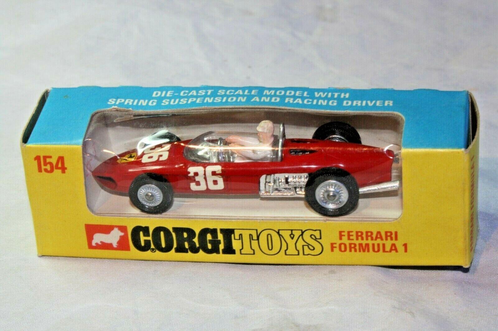 Corgi 154 Ferrari F1, Mint Condition in Near Mint Original Window Box