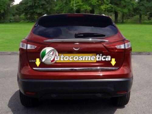 cornice profilo in abs cromo portellone portabagagli Nissan Qashqai 2014,