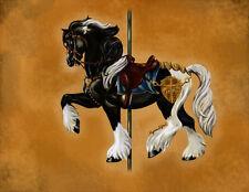 Baroque Vimto ~ Gypsy Vanner Stallion Carousel Horse 8X10