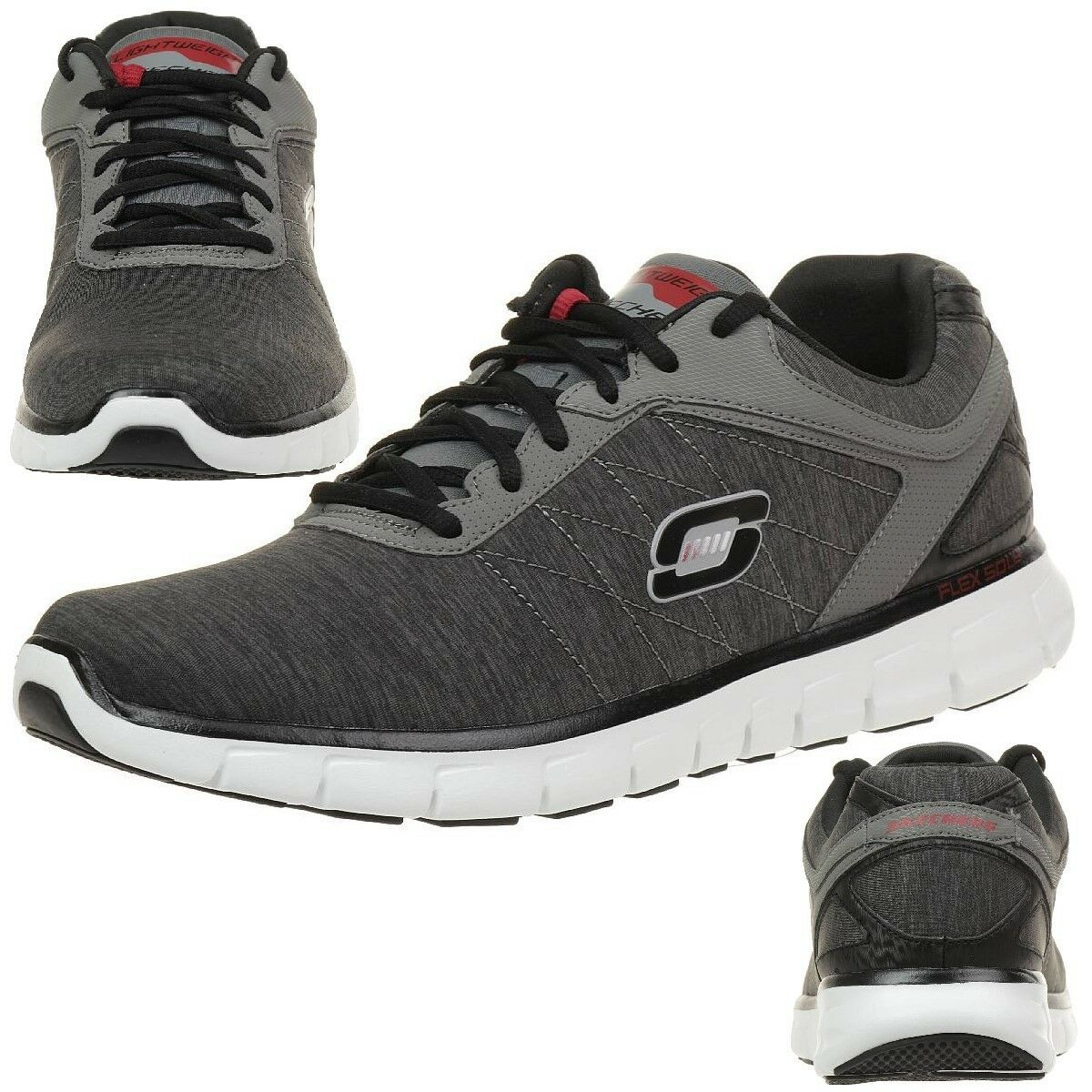 Skechers Synergy Instant Reaction Herren Sneaker Fitness Schuhe grey Lightwight
