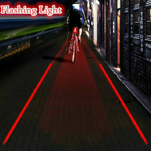 LED Bicycle Rear Tail Light 2 Laser+5 LED Flashing Bike Cycling Safety Warning K