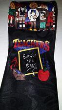 "Teachers Simply The Best Mens Necktie Students and Teacher Black Neck Tie 58"""