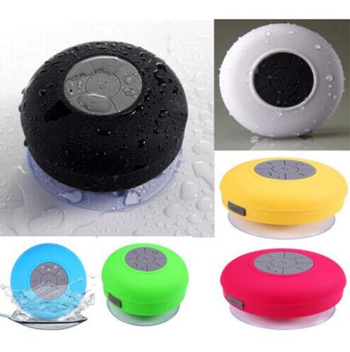 Rose Red BTS-06 Waterproof Shower Bluetooth Speaker Wireless Mini USB Charger