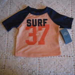 Toddler-Boys-Blue-Surf-Rash-Guard-shirt-size-6-12-months-Old-Navy-swim-top-new
