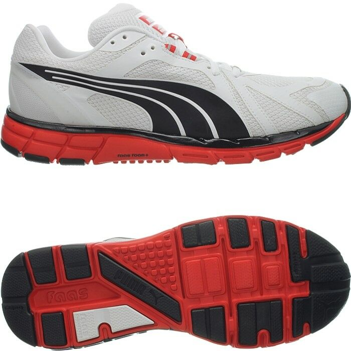 Puma hechos 600 S blancoo negro rojo Para Hombre Zapatos 8 Mm heel-to-toe Drop Nuevo