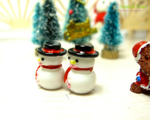 Doll House Miniature Winter Christmas Snowman Figure Fairy Garden Ornament Decor