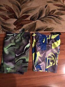 Choice-1-New-NWT-Boys-Nike-Blue-Or-Green-Swim-Trunks-Board-Shorts-Sz-4-5-6-7-amp-S