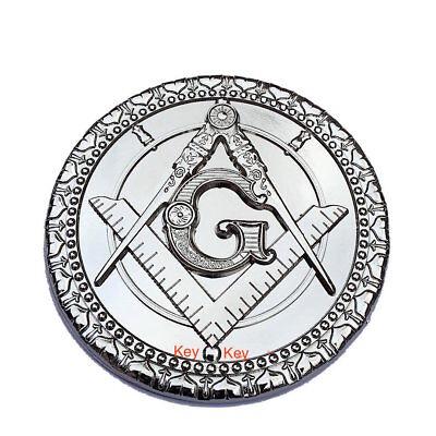Masonic Metal Chrome Mason Symbols auto Car decorative Emblem Equinox Masonic Regalia