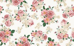 Image Is Loading Vintage Floral Rose Flower Print Background Cake Edible