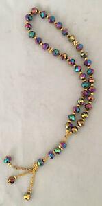 Islamic-Prayer-Beads-Misbaha-tasbih-Tesbeeh-Worry-Beads-Crystal-33-Multi-colore