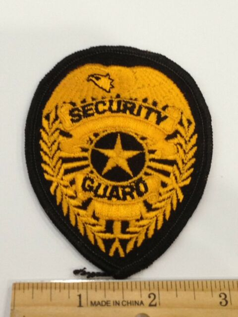 """Security Guard Star Embroidered Shoulder Patch 3.75/"""" x 4.25/"""""""