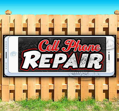 Cell Phone Repair Phone Number 13 Oz Heavy Duty Vinyl Banner Sign with Metal Grommets Flag